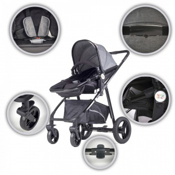 BABY VIVO Kinderwagen 2in1 Kombination – Bild 5