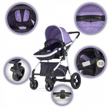 BABY VIVO Kinderwagen 2in1 Kombination – Bild 4