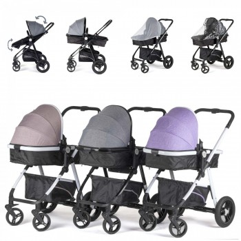 BABY VIVO Kinderwagen 2in1 Kombination – Bild 3