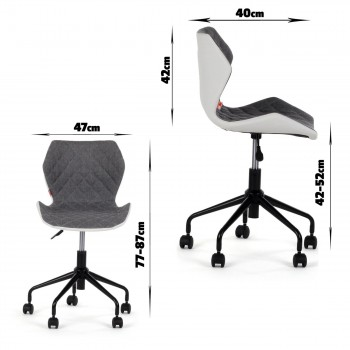 MY SIT Office Chair adjustable Stool INO Grey/White – Bild 7