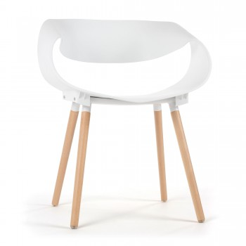 Makika Design Retro Dining Chair Set of 2 - MAYA in White – Bild 3