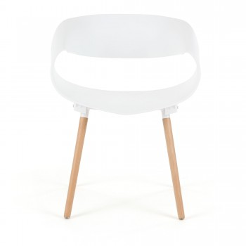 Makika Design Retro Dining Chair Set of 2 - MAYA in White – Bild 4