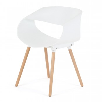 Makika Design Retro Dining Chair Set of 2 - MAYA in White – Bild 5