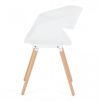 Makika Design Retro Dining Chair Set of 2 - MAYA in White – Bild 6