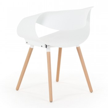Makika Design Retro Dining Chair Set of 2 - MAYA in White – Bild 7