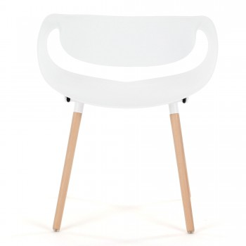 Makika Design Retro Dining Chair Set of 2 - MAYA in White – Bild 8