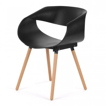 Makika Design Retro Dining Chair Set of 2 - MAYA in Black – Bild 5