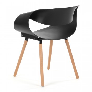 Makika Design Retro Dining Chair Set of 2 - MAYA in Black – Bild 7