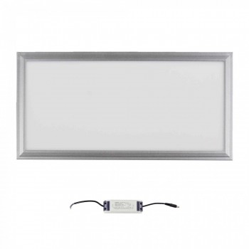 MAXCRAFT LED Panel Leuchte Slim 24W 600 x 300 x 15 mm - Warmweiß – Bild 2