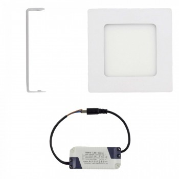 MAXCRAFT LED panel spotlight square 6 watts dimensions: 120x120 mm warm white – Bild 2