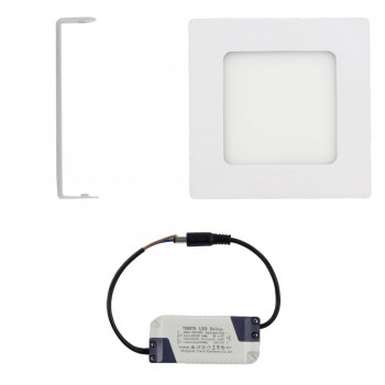MAXCRAFT LED panel spotlight square 6 watts dimensions: 120x120 mm cool white – Bild 2