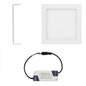 MAXCRAFT LED panel spotlight square 12 watts dimensions: 170x170 mm cool white – Bild 2