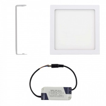 MAXCRAFT LED panel spotlight square 18 watts dimensions: 225x225 mm warm white – Bild 2