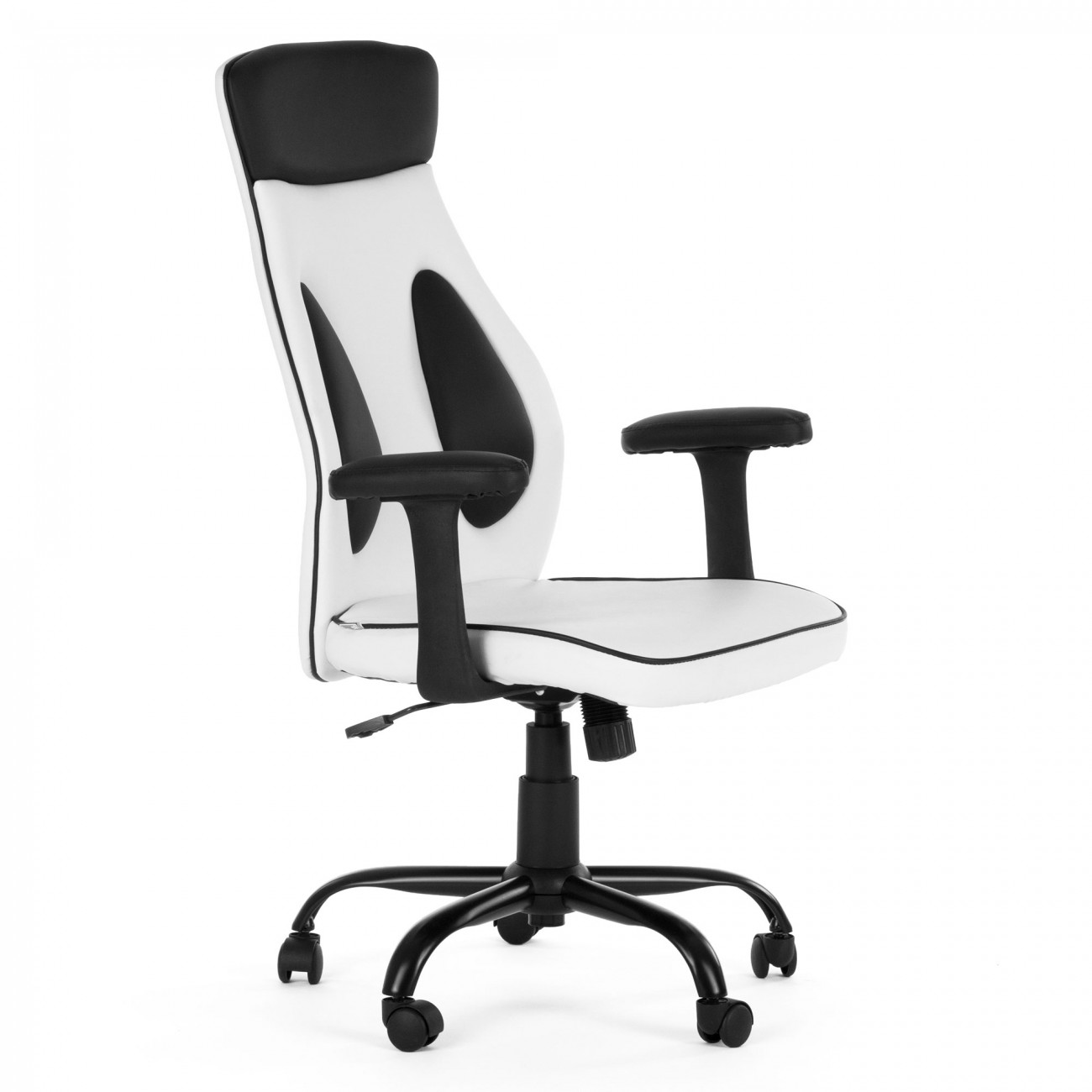 my sit office chair samoa faux leather in white office