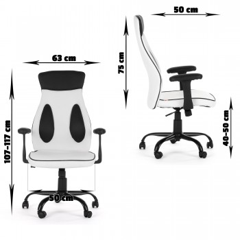MY SIT Office Chair Samoa Faux Leather in White – Bild 10