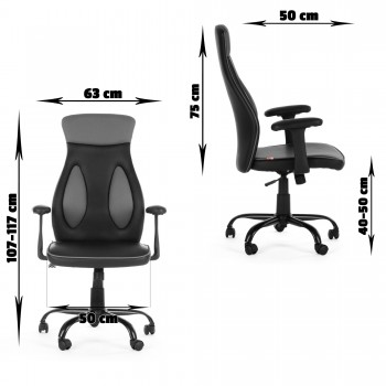 MY SIT Office Chair Samoa Faux Leather in Black – Bild 10