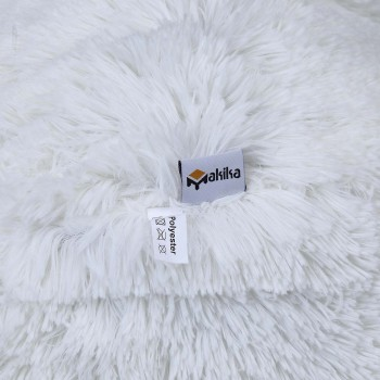 Makika Exercise Ball for Fitness / Yoga / Balance / Physical Therapy with Faux Fur and Pump - in White – Bild 5