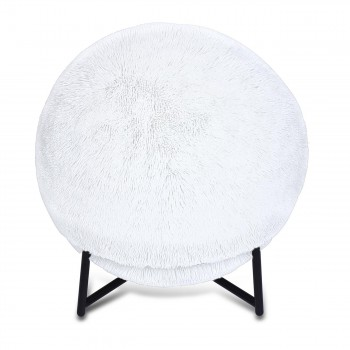 Makika Exercise Ball for Fitness / Yoga / Balance / Physical Therapy with Faux Fur and Pump - in White – Bild 2