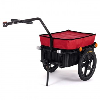 SAMAX Bicycle Bike Trailer for Transport 60 Kg / 70 Litre in Red – Bild 1