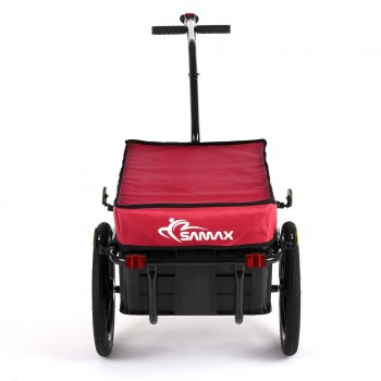 SAMAX Bicycle Bike Trailer for Transport 60 Kg / 70 Litre in Red – Bild 4