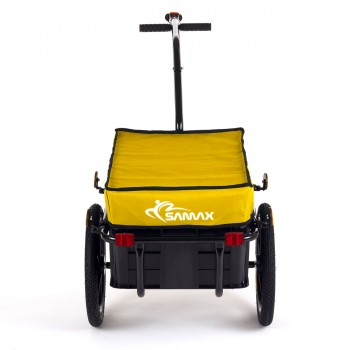 SAMAX Bicycle Bike Trailer for Transport 60 Kg / 70 Litre in Yellow – Bild 3