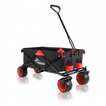 SAMAX Foldable Hand Cart Offroad - Black / Red – Bild 1