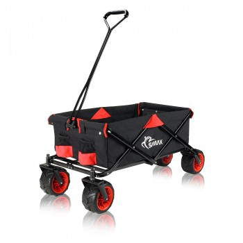 SAMAX Foldable Hand Cart Offroad - Black / Red – Bild 3