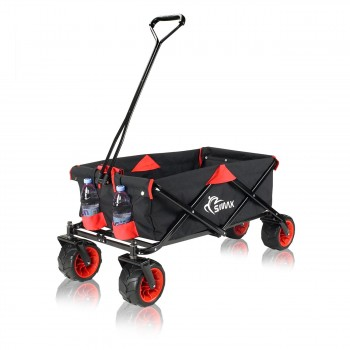SAMAX Foldable Hand Cart Offroad - Black / Red – Bild 4
