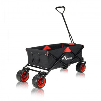 SAMAX Foldable Hand Cart Offroad - Black / Red – Bild 5