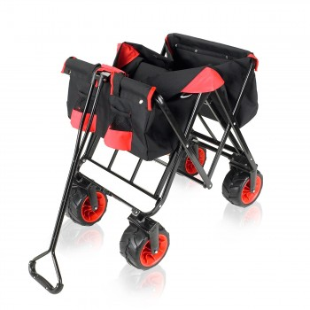 SAMAX Foldable Hand Cart Offroad - Black / Red – Bild 9