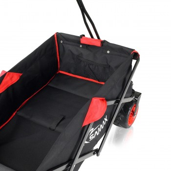 SAMAX Foldable Hand Cart Offroad - Black / Red – Bild 8