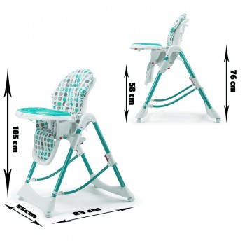 Baby Vivo Baby High Chair Infant Feeding Seat - Tippy in Turquoise – Bild 4
