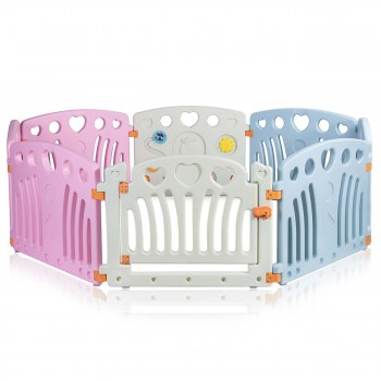 Baby Vivo Foldable Baby Child Playpen for Indoor and Outdoor - Daisy – Bild 1