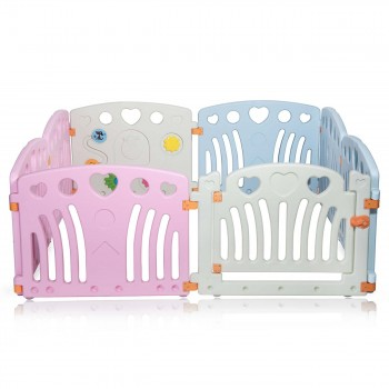 Baby Vivo Foldable Baby Child Playpen for Indoor and Outdoor - Daisy – Bild 2