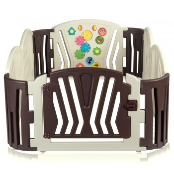 Baby Vivo Foldable Baby Child Playpen for Indoor and Outdoor - Brown – Bild 2