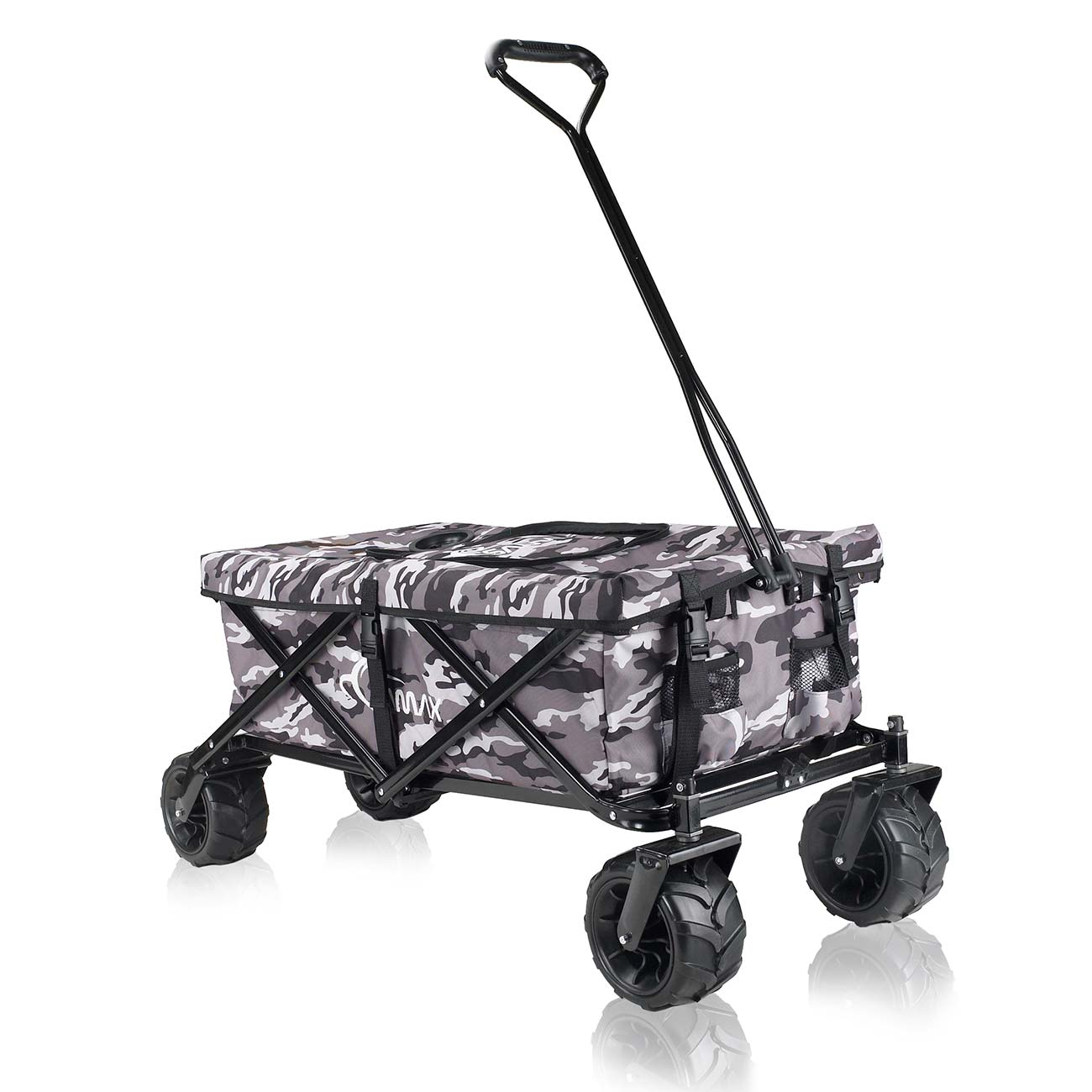 samax foldable hand cart offroad cool camouflage