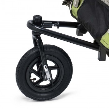 SAMAX Children Bike Trailer 2in1 Jogger 360° rotatable Stroller with Suspension - in Green - Black Frame – Bild 7