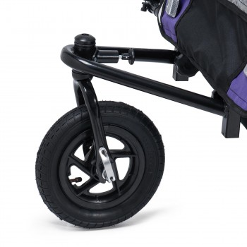 SAMAX Children Bike Trailer 2in1 Jogger 360° rotatable Stroller with Suspension - in Purple - Black Frame – Bild 7