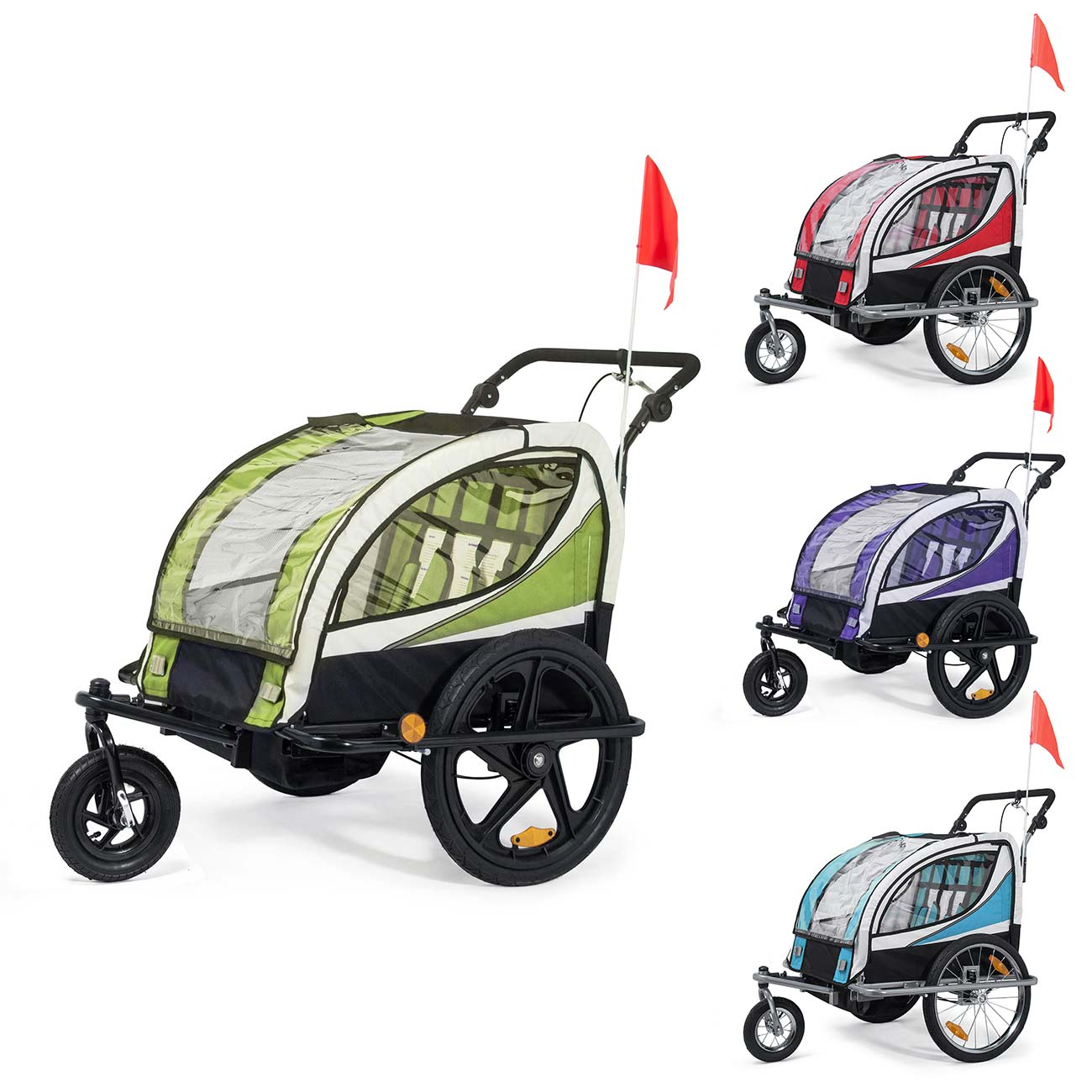jogger children bike trailer 2in1 stroller suspension. Black Bedroom Furniture Sets. Home Design Ideas