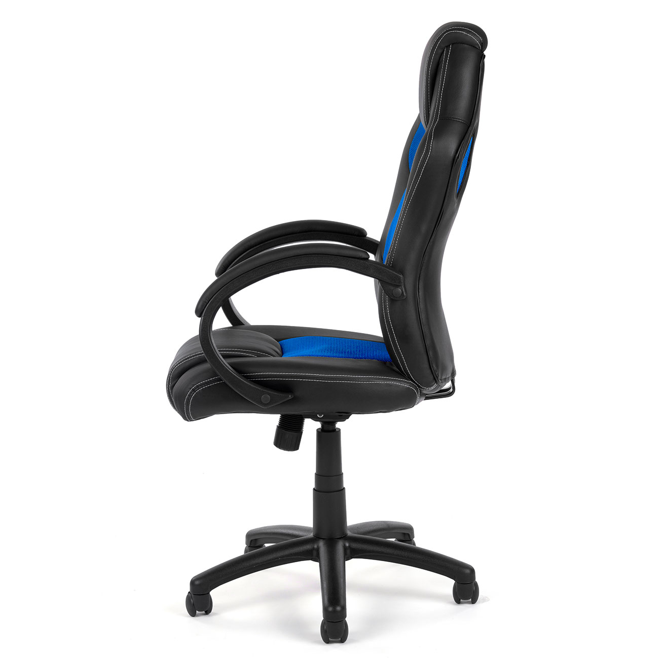 chaise bureau fauteuil si ge racing gamer sportiv ordinateur accoudoir noir bleu ebay. Black Bedroom Furniture Sets. Home Design Ideas
