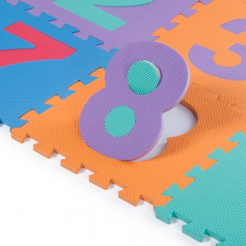 Baby Vivo Large 86 Pieces Puzzle Soft EVA Foam Play Mat with Numbers and Alphabet 190 x 190 cm – Bild 5