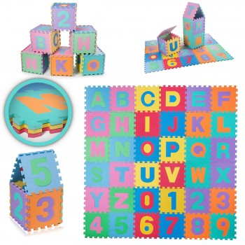 BABY VIVO Large 86 Pieces Puzzle Soft EVA Foam Play Mat with Numbers and Alphabet 190 x 190 cm – Bild 14