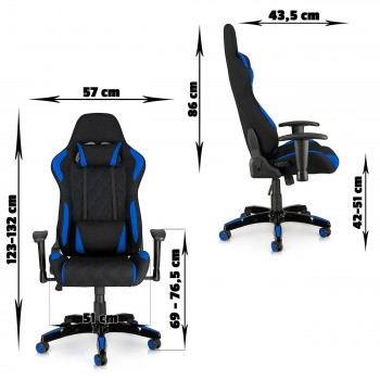 MY SIT Office Chair Racing Chair Blue Racer – Bild 2