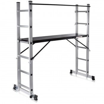 MAXCRAFT Mobile Aluminium Work Platform / Multifunction Scaffold with Wheels – Bild 1