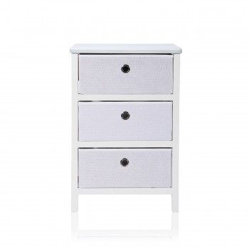 Makika Foldable Chest of drawers with 3 Drawers in White – Bild 2