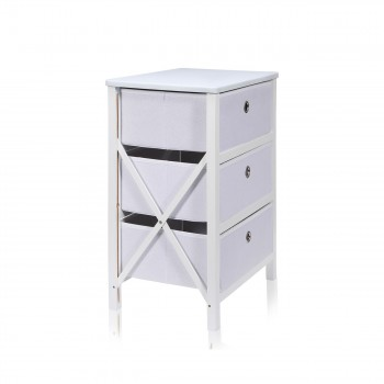 Makika Foldable Chest of drawers with 3 Drawers in White – Bild 4