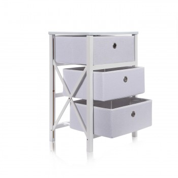 Makika Foldable Chest of drawers with 3 Drawers in White – Bild 5