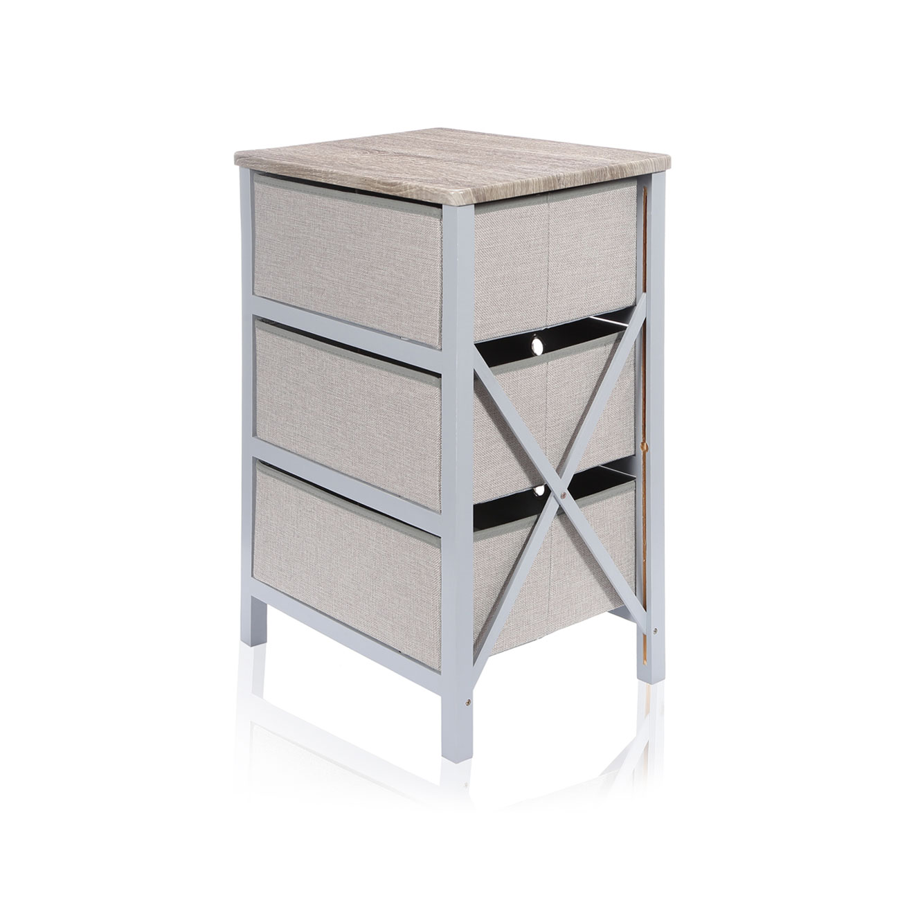 Commode 3 tiroirs armoire pliable rangement meuble for Assemblage meuble mdf