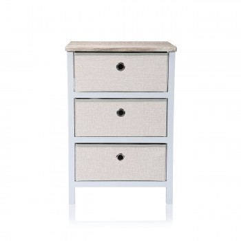 Makika Foldable Chest of drawers with 3 Drawers in Grey Makika Foldable Chest of drawers with 3 Drawers in Grey – Bild 2