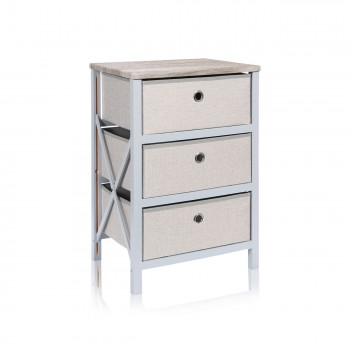 Makika Foldable Chest of drawers with 3 Drawers in Grey Makika Foldable Chest of drawers with 3 Drawers in Grey – Bild 3
